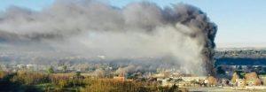 Nube su Roma. Incendio al centro rifiuti Salario
