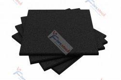 Pavimento antitrauma palestre in gomma color nero